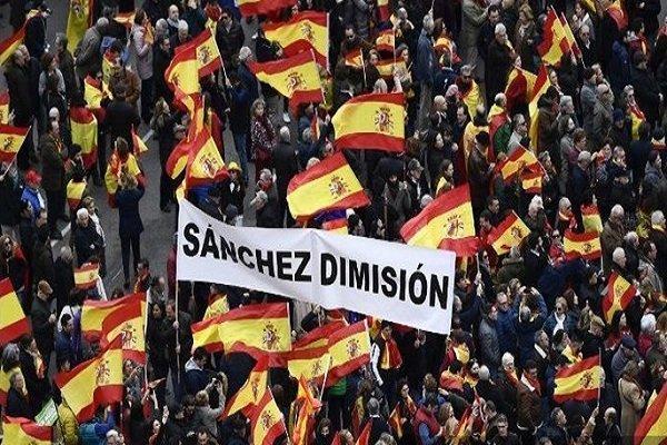 هزاران نفر در مادرید علیه دولت اسپانیا تظاهرات کردند