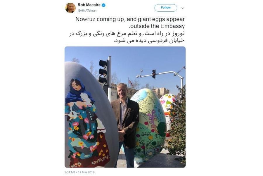 دیپلمات های خارجی مقیم ایران با توییت های بهاری به استقبال نوروز می روند