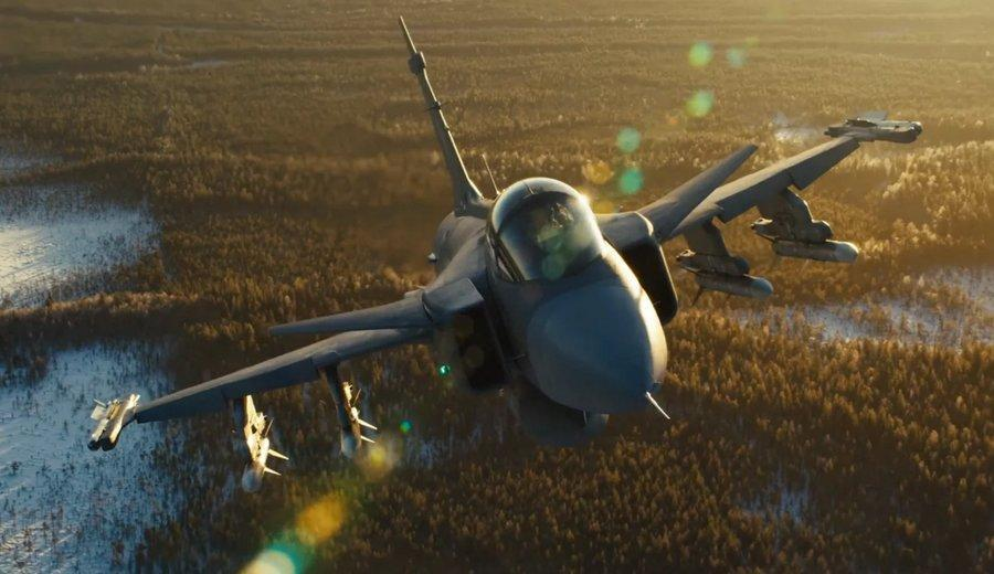 فیلم ، زوم بدون تکان روی جنگنده مافوق صوت