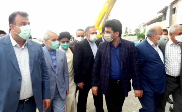 رییس سازمان برنامه و بودجه کشور از بیمارستان درحال ساخت تنکابن بازدید کرد